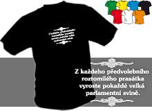 PARLAMENTNÍ SVINĚ (trička s potiskem - tričko volný střih)