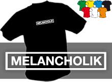 MELANCHOLIK (trička s potiskem - tričko volný střih)
