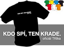 KDO SPÍ (trička s potiskem - tričko volný střih)
