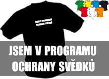 OCHRANA SVĚDKŮ (trička s potiskem - tričko volný střih)