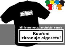KOUŘENÍ (trička s potiskem - tričko volný střih)