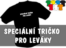 PRO LEV�KY (tri�ka s potiskem - tri�ko voln� st�ih)