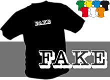 FAKE (trička s potiskem - tričko volný střih)