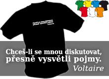 VOLTAIRE 01 (trička s potiskem - tričko volný střih)