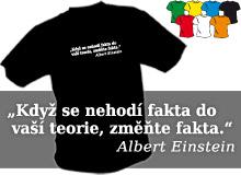 EINSTEIN - FAKTA (trička s potiskem - tričko volný střih)