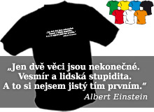 EINSTEIN - STUPIDITA (trička s potiskem - tričko volný střih)