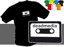 DEADMEDIA K (trička s potiskem - tričko volný střih)