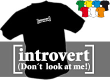 INTROVERT (trička s potiskem - tričko volný střih)