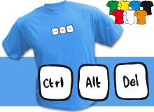 CtrlAltDel (trička s potiskem - tričko volný střih)