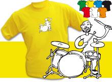 DRUMMER (trička s potiskem - tričko volný střih)