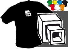 KOSTKY (trička s potiskem - tričko volný střih)