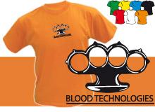 BLOOD (trička s potiskem - tričko volný střih)