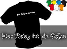 VÁLKA JE VŮL (trička s potiskem - tričko volný střih)