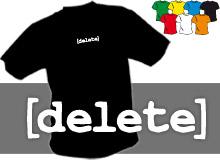 DELETE (trička s potiskem - tričko volný střih)