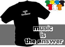MUSIC (trička s potiskem - tričko volný střih)