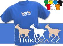 KOZY (trička s potiskem - tričko volný střih)