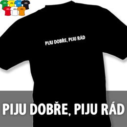 PIJU DOBŘE (trička s potiskem - tričko volný střih) - zvětšit obrázek