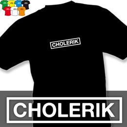 CHOLERIK (trička s potiskem - tričko volný střih) - zvětšit obrázek