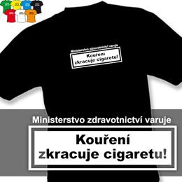 KOUŘENÍ (trička s potiskem - tričko volný střih) - zvětšit obrázek