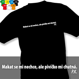 PIVÍČKO (trička s potiskem - tričko volný střih) - zvětšit obrázek