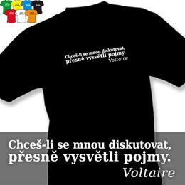VOLTAIRE 01 (trička s potiskem - tričko volný střih) - zvětšit obrázek