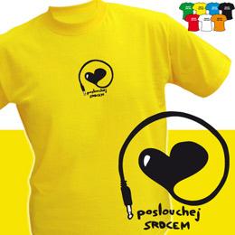 POSLOUCHEJ SRDCEM (trička s potiskem - tričko volný střih) - zvětšit obrázek