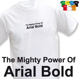 POWER OF ARIAL (trička s potiskem - tričko volný střih) - zvětšit obrázek