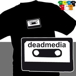 DEADMEDIA K (trička s potiskem - tričko volný střih) - zvětšit obrázek