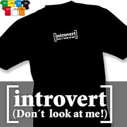 INTROVERT (trička s potiskem - tričko volný střih) - zvětšit obrázek
