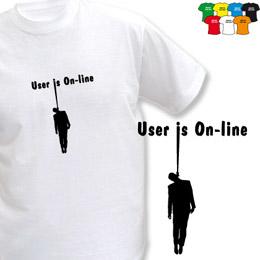 ONLINE (trička s potiskem - tričko volný střih) - zvětšit obrázek