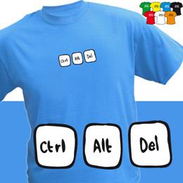CtrlAltDel (trička s potiskem - tričko volný střih) - zvětšit obrázek
