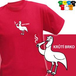KRŮTÍ BRKO (trička s potiskem - tričko volný střih) - zvětšit obrázek
