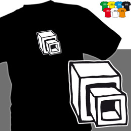 KOSTKY (trička s potiskem - tričko volný střih) - zvětšit obrázek