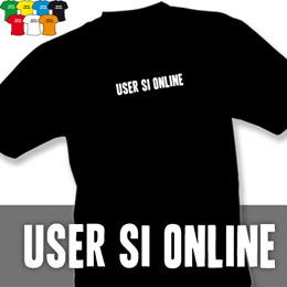 USER SI (trička s potiskem - tričko volný střih) - zvětšit obrázek