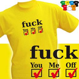 FUCK 3x (trička s potiskem - tričko volný střih) - zvětšit obrázek