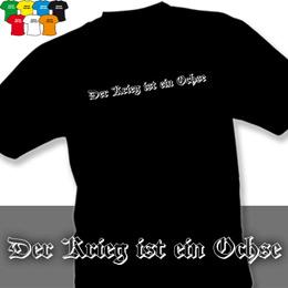 VÁLKA JE VŮL (trička s potiskem - tričko volný střih) - zvětšit obrázek