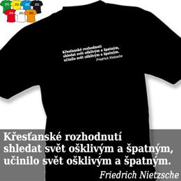 OŠKLIVÝ SVĚT (trička s potiskem - tričko volný střih) - zvětšit obrázek
