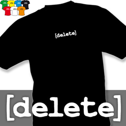 DELETE (trička s potiskem - tričko volný střih) - zvětšit obrázek