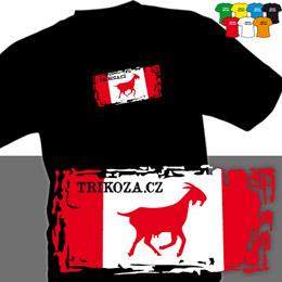TRIKOZA - FLAG 01 (trička s potiskem - tričko volný střih) - zvětšit obrázek
